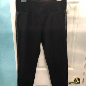 NWT...high waisted leggings with faux leather